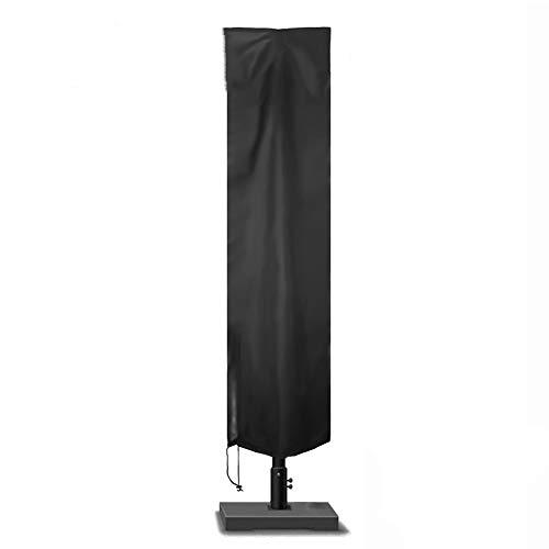Sonnenschirm Schutzhülle 300cm, Ampelschirm Abdeckung Sonnenschirmhülle mit Reißverschluss, 210D-Gewebe Oxford für 2 bis 3m Sonnenschirm, Wasserdichte, Winddichte, UV-Beständiges (183 x 25 x 35cm)