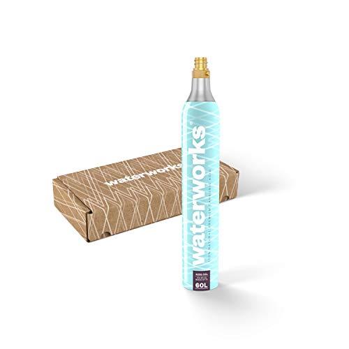 waterworks 1 x CO2-Zylinder I Geeignet für SodaStream, Grohe Blue, Aarke, Brita, WasserMaxx u.v.a Wassersprudler I Für bis zu 60 L pro Füllung I Kostenfreier Rückversand bei Zylindertausch