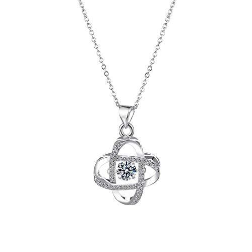 UINGKID Damen Halskette,Herzform Personalisierte Anhänger Schmuck Kette,Schmuck Silber Kette mit Kristallen.Geschenk für Freuen, Damen, Freundin, Mutter, Schwester