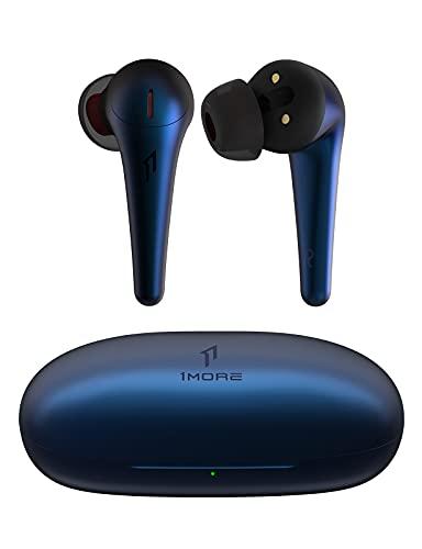 1MORE ComfoBuds Pro Cuffie Bluetooth, Auricolari Wireless con Cancellazione Attiva del Rumore, 5 Modalità Adattive, EQ Personalizzato, 28 Ore di Riproduzione, 6 Microfoni, Ricarica Veloce, Blu