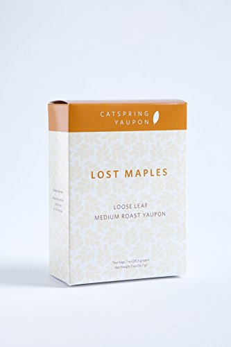 CatSpring Yaupon - Lost Maples Medium Roast Black Yaupon Tea - Loose Leaf - Naturally Caffeinated, Herbal and Sustainable - Yaupon Black Tea Grown, Harvest and Made in the USA {2 oz.}