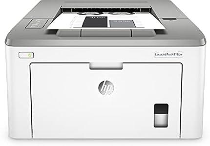 HP LaserJet Pro M118dw 4PA39A, Impresora A4 Monofunción Monocromo, Impresión a Doble Cara Automática, Wi-Fi, Ethernet, USB 2.0 alta velocidad, HP Smart App, Gris y Blanca