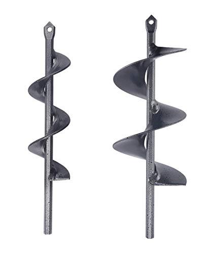 Strumento di Perforazione Accessori per Piantare Bulbi da Letto Foratura Coltivare Coclea Spirale Bit Punta per Trapano a Mano Punta per Trivella a Spirale da Giardino Dia-4.6cm, L-37cm