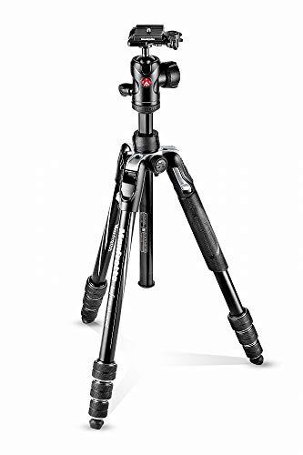Manfrotto Befree Advanced Alu Reisestativ Twist (Drehverschluss) mit Kugelkopf, inkl.Tasche (für Canon, Nikon, Sony, DSLR, CSC, Spiegellose Kamera, schwarz, Traglast:8kg, Packmaß:40cm, Gewicht:1,49kg)