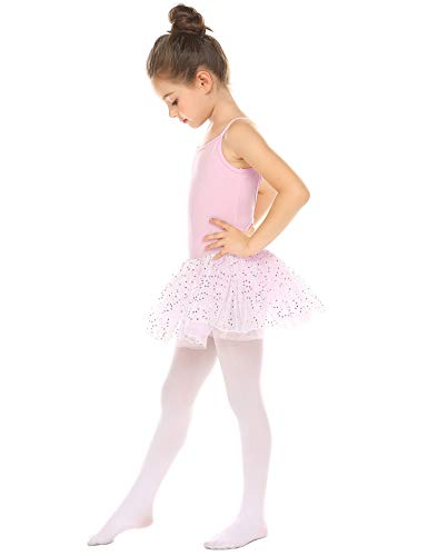 Zaclotre Girls Ballet Leotards Cotton Camisole Dance Tutu Dress Back Bow with Skirt