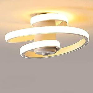 LED Lámpara de Techo Moderna, 18W Plafón Techo Led, Lámpara de Techo de Diseño Línea Espiral, Iluminación de techo para Salón Dormitorio Cocina Sala de Estar Pasillo Comedor, Luz Blanco Cálido 3000K