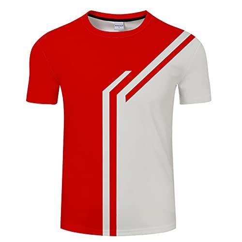 SSBZYES Camiseta para Hombre Camiseta De Verano De Manga Corta Camiseta De Gran Tamaño para Hombre Camiseta Roja Estampada para Hombre Camisa para Hombre Camiseta Casual para Hombre