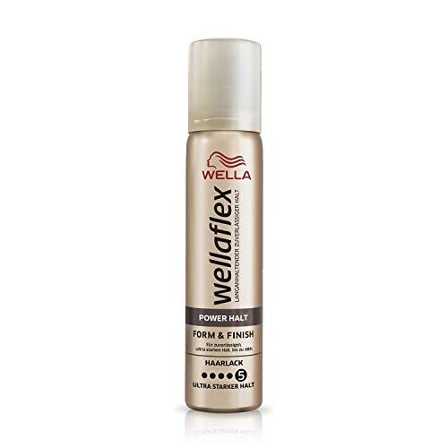Wella Wellaflex Power Halt Form & Finish Haarlack für zuverlässigen, bis zu 48h, Mini Größe, 6er Pack (6 x 75 ml)