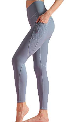cxzas852 Die hohe Taille der atmungsaktiven Fitnesshosenfrauen spannt die Yogahosen der Stretchhüften