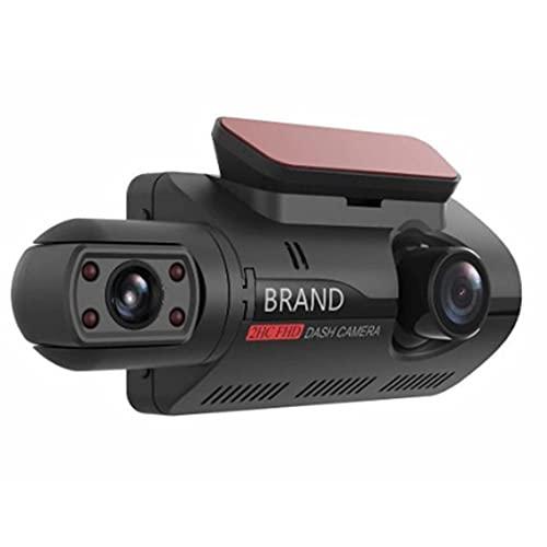 Tree-es-Life Cámara DVR para Coche de 3 Pulgadas Dash CAM Grabación Dual Grabadora de Video Oculta Cámara de Tablero 1080P Visión Nocturna Monitoreo de estacionamiento DashCam Negro