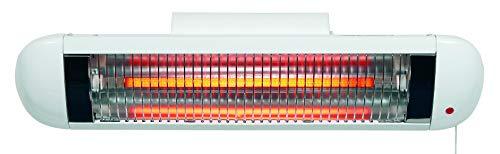 H+H BS 50 Heizstrahler Baby (mit Abschaltautomatik, Wandmontage, Tropfwassergeschützt, Geräuschlos, Wärmelampe für Wickeltisch, Babystrahler mit Zugschalter für Wickelkommode)