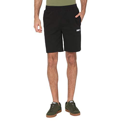 PUMA Fusion Twill Shorts 8` Pantalones Cortos, Hombre, Black, S