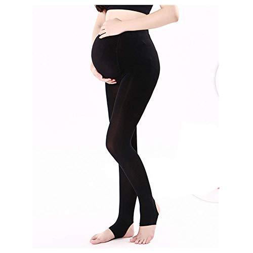 ZUMIY Umstandsmode Strumpfhose, Strumpfhosen für die Schwangerschaft, Umstands Strumpfhose Schwarze- 320D (Verstellbares Taillenband) (Free, Schwarz)