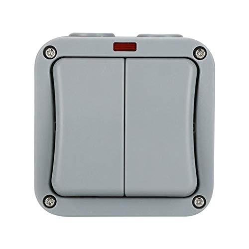 dongshi - Interruptor de balancín impermeable adaptador conmutador impermeable para cocina, cuarto de baño, piscina, interruptor interior y exterior