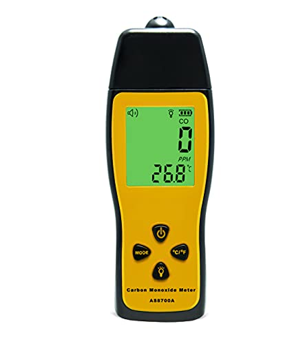 Handheld Carbon Monoxide Meter, Portable CO Gas Detector, Gas Tester with 0~1000ppm Range, 1PPM Resolution(Battery NOT Included)