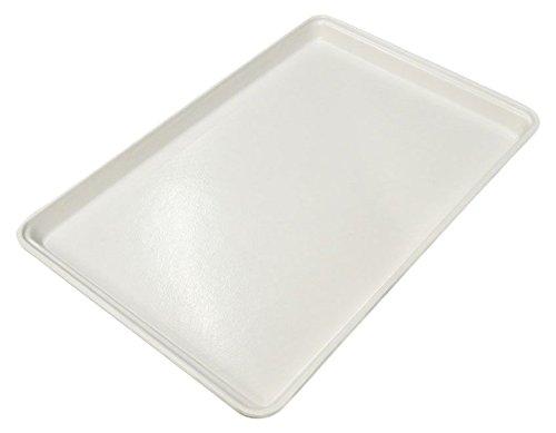 """Toteline 3320011537 Multi-Purpose Utility Tray, Glass Fiber Reinforce Plastic Composite, 26"""" x 18"""" x 1.25"""", White"""
