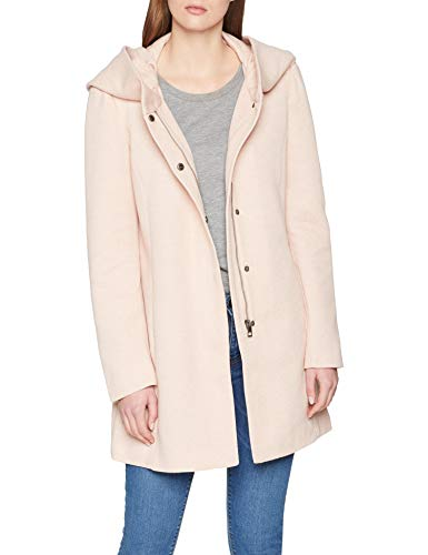 Vero Moda Vmverodona LS Jacket Noos Abrigo, Beige (Mocha Mousse Detail:Melange), 38 (Talla del Fabricante: Small) para Mujer