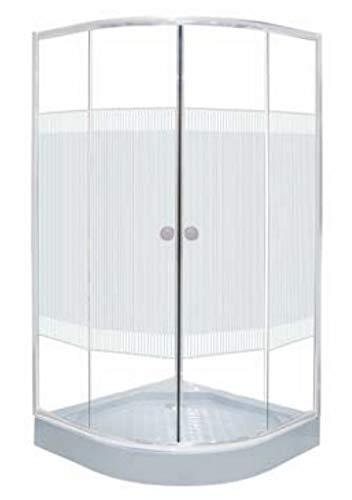 mampara de ducha angular eph 90 x 90 x 180 cm con Cristal Templado de 4 mm serigrafiado perfiles blancos tw90s: Amazon.es: Bricolaje y herramientas