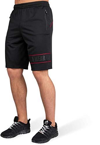 Gorilla Wear Branson Shorts - Bodybuilding und Fitness Bekleidung für Herren, rot, XL