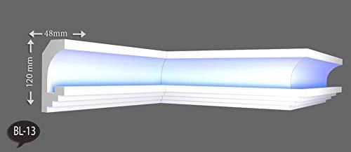 20m+4 Ecken Indirekte Beleuchtung LED Lichtprofile Wand Stuckleiste Profil BL13