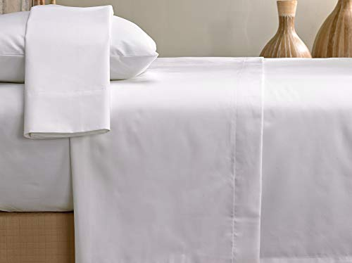 Marriott Signature Sheet Set - Soft, Breathable 300 Thread Count Cotton Blend Linens Set - White - Includes Flat Sheet, Fitted Sheet, and 2 Pillowcases - King