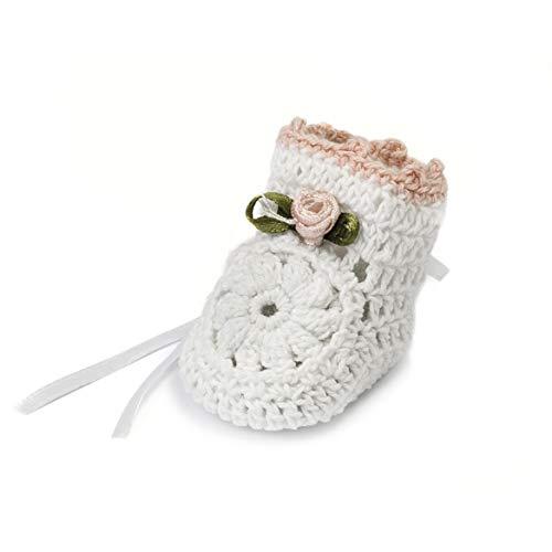 Mopec Patuco Decorativo de Ganchillo Hechos a Mano, Pack de 6 Unidades, Crochet, Blanco,...