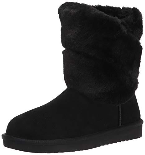 Koolaburra by UGG womens Dezi Short Mid Calf Boot, Black, 10 US
