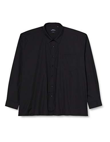 "Premier Workwear Poplin Long Sleeve Shirt, Chemise Business Homme, Noir (Black), 45cm (Taille fabricant:18"")"