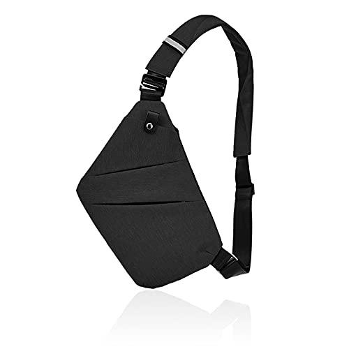 Fibrdoo Multi-Pocket Crossbody Sling Bag, Anti-Diebstahl Brusttasche Herren und Damen
