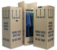 5 Tall Wardrobe Boxes Removal Garment Carriers strong double wall cardboard