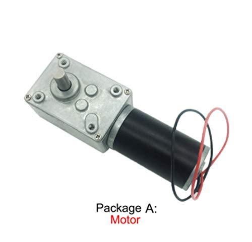 BoaInx Motor eléctrico 24v Potente Gusano de Alto par Motor de 12 voltios eléctrico inverso de Caja de Cambios 12V DC Reductor Motorreductor (Speed(RPM) : 12v 12rpm, Voltage(V) : Package H)