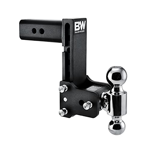 B&W Trailer Hitches Tow & Stow - Fits 2.5  Receiver, Dual Ball (2  x 2-5 16 ), 7  Drop, 14,500 GTW - TS20040B