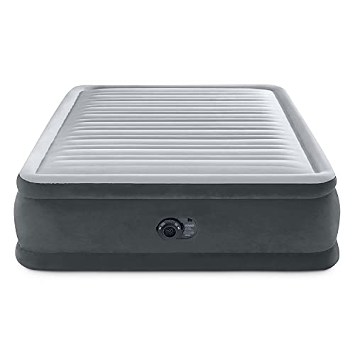 """Intex Comfort Plush Elevated Dura-Beam Airbed with Internal Electric Pump, Bed Height 18"""", Queen"""