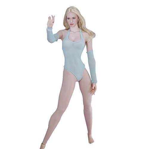 DSXX 1/6 Actionfiguren Weiblich, 12 Zoll Weibliche Figur Körper Puppe mit 14 Bewegliche Gelenke und 1 Badeanzug - Hellgrün