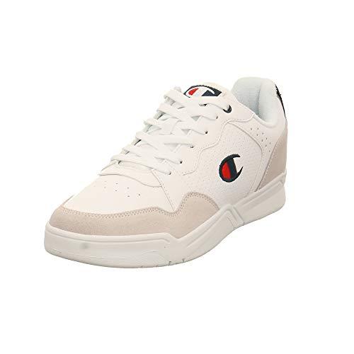 Champion Herren Chicago Low Weißer Leder/Synthetik Sneaker Größe 41 EU Weiß (WHT White)