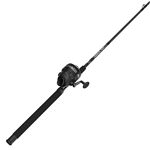 Zebco 808 Spincast Reel and Fishing Rod Combo, 7-Foot Durable Z-Glass Rod with Extended EVA Rod Handle, Quickset Anti-Reverse with Bite Alert, Pre-spooled with 20-Pound Cajun Fishing Line, Black