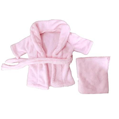 Bebé recién Nacido del niño Albornoz Toalla Infantil fotografía apoya Vestuario 0-3M Rosa 2 Piezas