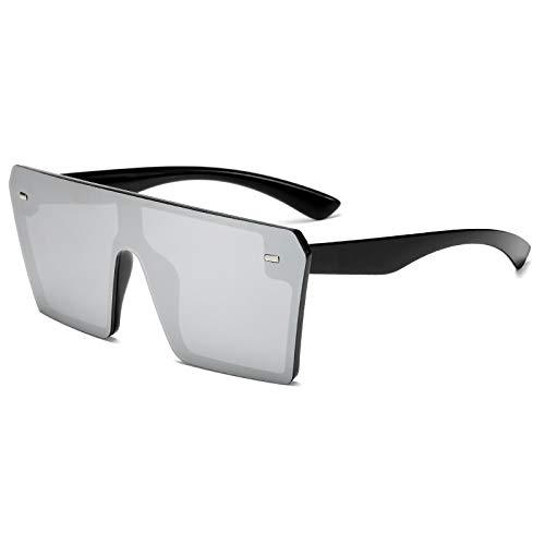 NJJX Gafas De Sol Cuadradas De Moda Para Mujer, Gafas De Sol Con Degradado De Gran Tamaño Con Parte Superior Plana Para Hombre, Sombras 06