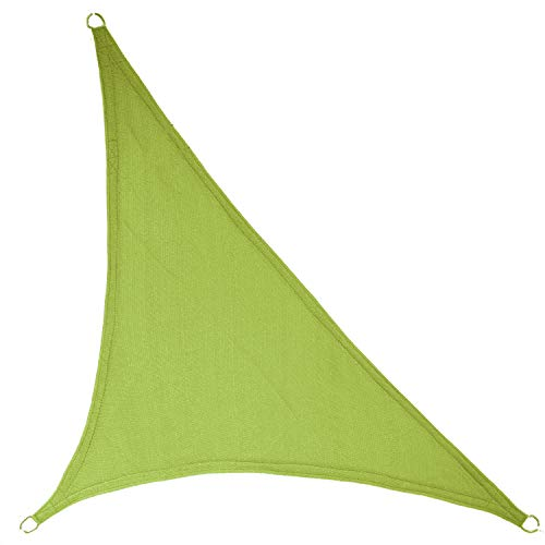 LyShade 12' x 12' x 17' Right Triangle Sun Shade Sail Canopy (Lime Green) - UV Block for Patio and Outdoor