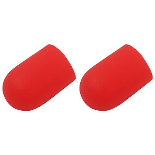 ZQEDY Scooter Fußstütze Abdeckung 2 Stück Verschleißfestes Stativ Seitenschutz Weiches Zubehör Ersatzteile rutschfeste Hülse Parksilikon Für Xiaomi M365 Pro(rot)