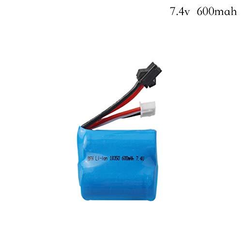 zjpvip218 7.4v (3.7v * 2) 600mAh 20C Batería de Iones de Litio para TK H100 H102 S2 Control Remoto de Alta Velocidad RC Barco Batería de 7.4 v 18350-Púrpura