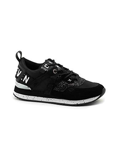 SIXTYSEVEN - Sneakers Leonel Piezas Y Letras ATRAS (38 EU, Negro)