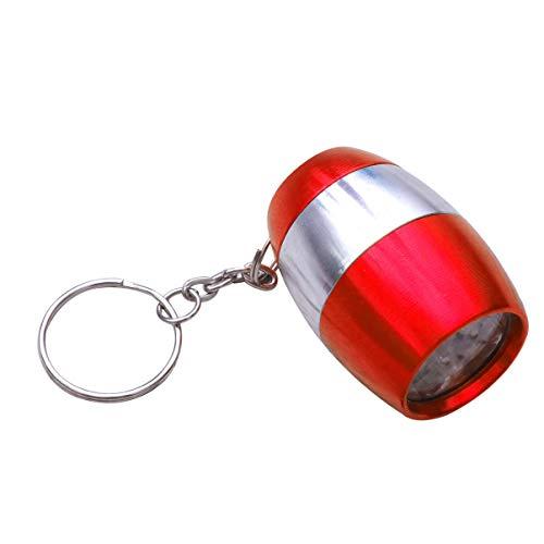 OSALADI Taschenlampe Schlüsselanhänger Niedlich Kleine Praktische 6-LED-Schlüsselring Kleine Geschenkschlüssel Dekoration Schlüsselhalter für Frauen Erwachsene Männer (Rot)