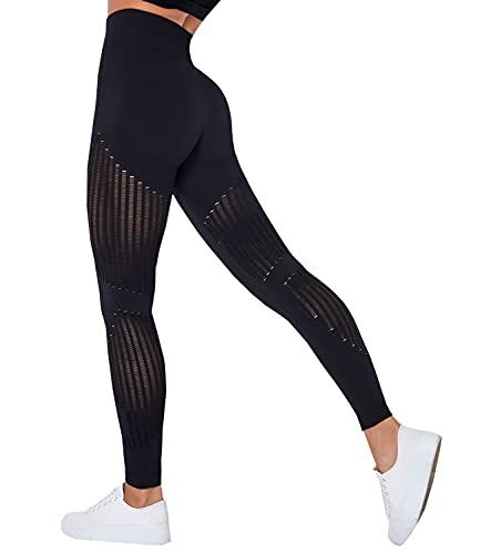 COMFEE Leggings Deportivos de Verano Mallas de Deporte de Mujer Pantalones de Mujer Yoga Leggings Gimnasio Fitness Correr Workout Transpirable Suave Fresco