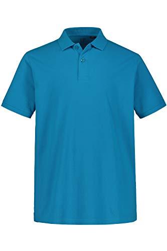 JP 1880 Herren große Größen bis 8XL, Poloshirt, Oberteil, Knopfleiste, Hemdkragen, Pique, Azur L 702560 75-L