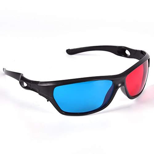 YABAISHI 5pcs / Set Marco Rojo Azul 3D Gafas para Dimensional Anaglyph Movie Game DVD Black (Color : 1)