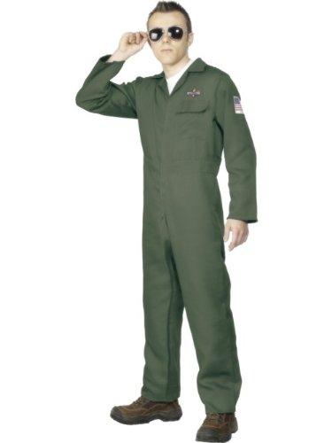 Smiffy's - Disfraz de piloto para hombre, talla M (28623M)