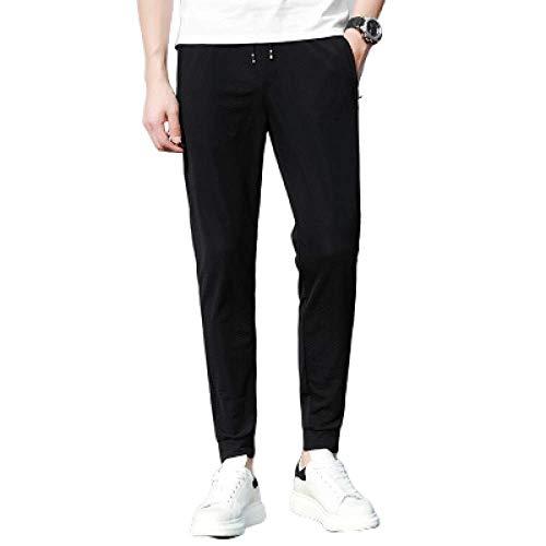 Pantalons pour Hommes Pantalons décontractés d'été Maille lâche lâche Respirant Section Mince Cordon Pantalon de survêtement Pantalon de Grande Taille