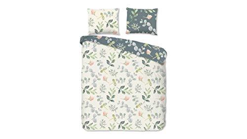 Good Morning! Emma Ropa de cama, flores, algodón, 135 x 220 cm, con una funda de almohada de 80 x 80 cm