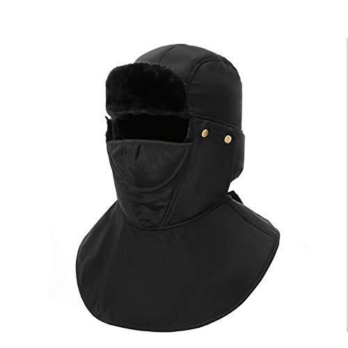 HJG Winter Trooper Ushanka met mantel & oor Flaps, Faux Bont kin riem en winddicht masker, Flesh